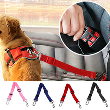 Load image into Gallery viewer, 43-70cm Adjustable Dog Car Safety Seat Belt Vehicle Seatbelt Harness Lead Clip Pet Dog Supplies Safety Lever Auto Traction