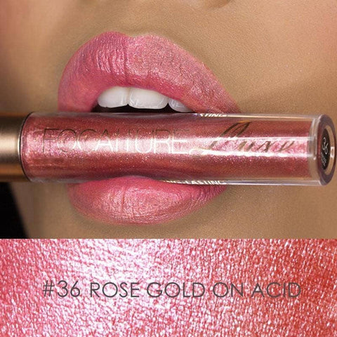Metallic Liquid Lipstick #36 Rose Gold on Acid