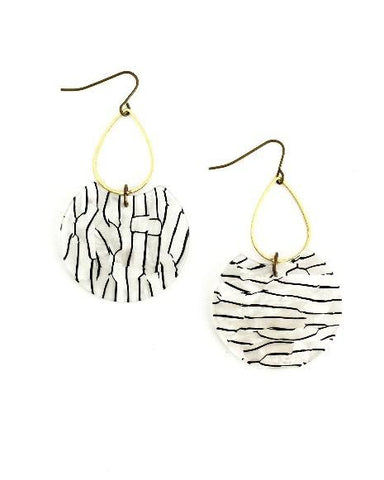 Etch Earrings White