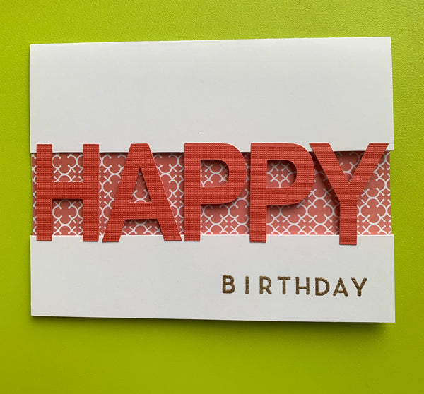 BRIGHT happy birthday note cards!