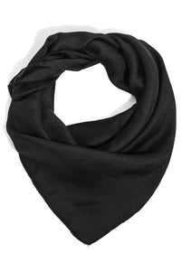 Solid Black Square Scarf