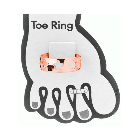 Rose Gold Star Struck Toe Ring (A57)