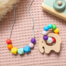 Load image into Gallery viewer, Rainbow Necklace & Teething Ring Set