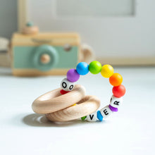 Load image into Gallery viewer, Personalised Teething Ring - Rainbow Ring