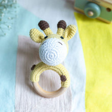 Load image into Gallery viewer, Crochet Giraffe Teething Rattle
