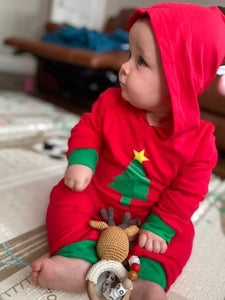 Personalised Christmas Tree Romper
