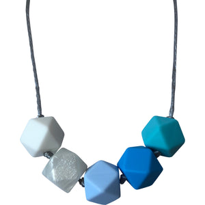 Charlotte Teething Necklace - Blue-Necklace-Chewie Cat-Chewie Cat