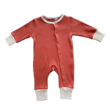 Load image into Gallery viewer, Long Sleeve Personalised Romper - Coral