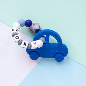Personalised Teething Ring - Car