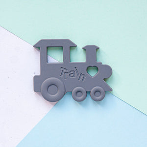Train Silicone Teether - Grey