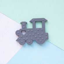 Load image into Gallery viewer, Train Silicone Teether - Grey