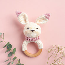 Load image into Gallery viewer, Crochet Bunny Teething Rattle