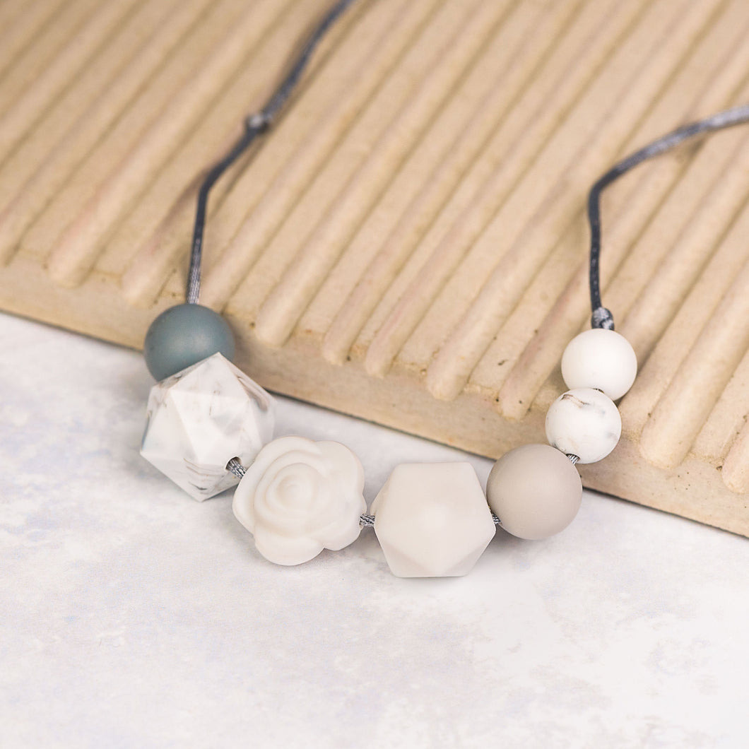 Grace Teething Necklace - White