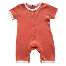 Load image into Gallery viewer, Short Sleeve Personalised Romper - Coral