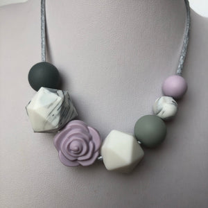 Grace Teething Necklace - Lilac-Necklace-Chewie Cat-Chewie Cat