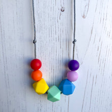 Amy Teething Necklace - Rainbow-Necklace-Chewie Cat-Chewie Cat