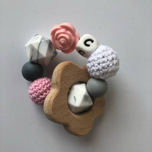 Handmade Wooden Teething Ring - Grace-Teethers-Chewie Cat-Chewie Cat