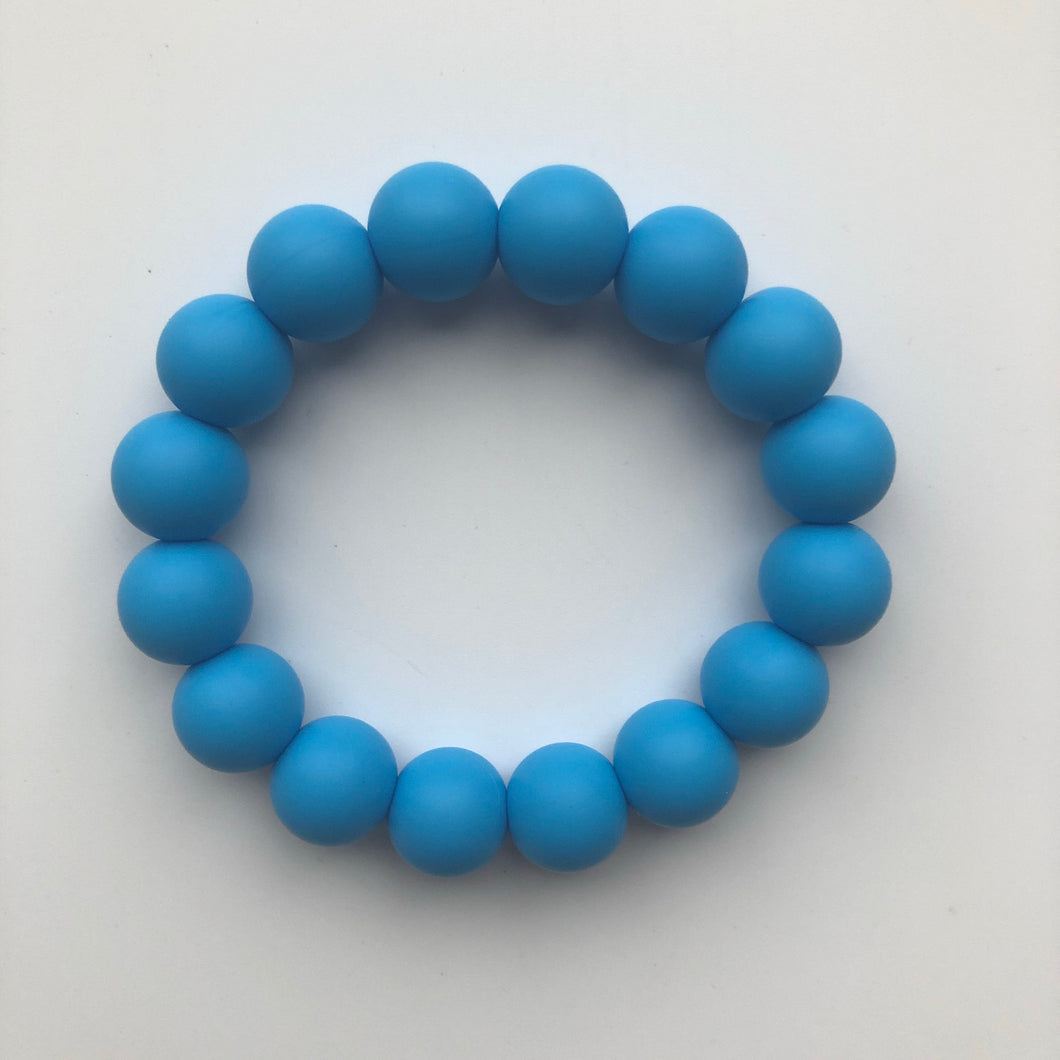 Handmade Teething Bracelet Ring - Blue-Teethers-Chewie Cat-Chewie Cat