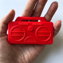 Load image into Gallery viewer, Stereo Boombox Silicone Teether - Red-Teethers-Chewie Cat-Chewie Cat