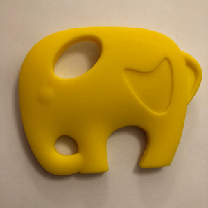 Elephant Silicone Teether - Yellow-Teethers-Chewie Cat-Chewie Cat