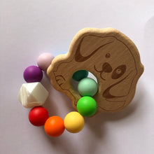 Load image into Gallery viewer, Handmade Wooden Teething Ring - Rainbow Dog-Teethers-Chewie Cat-Chewie Cat