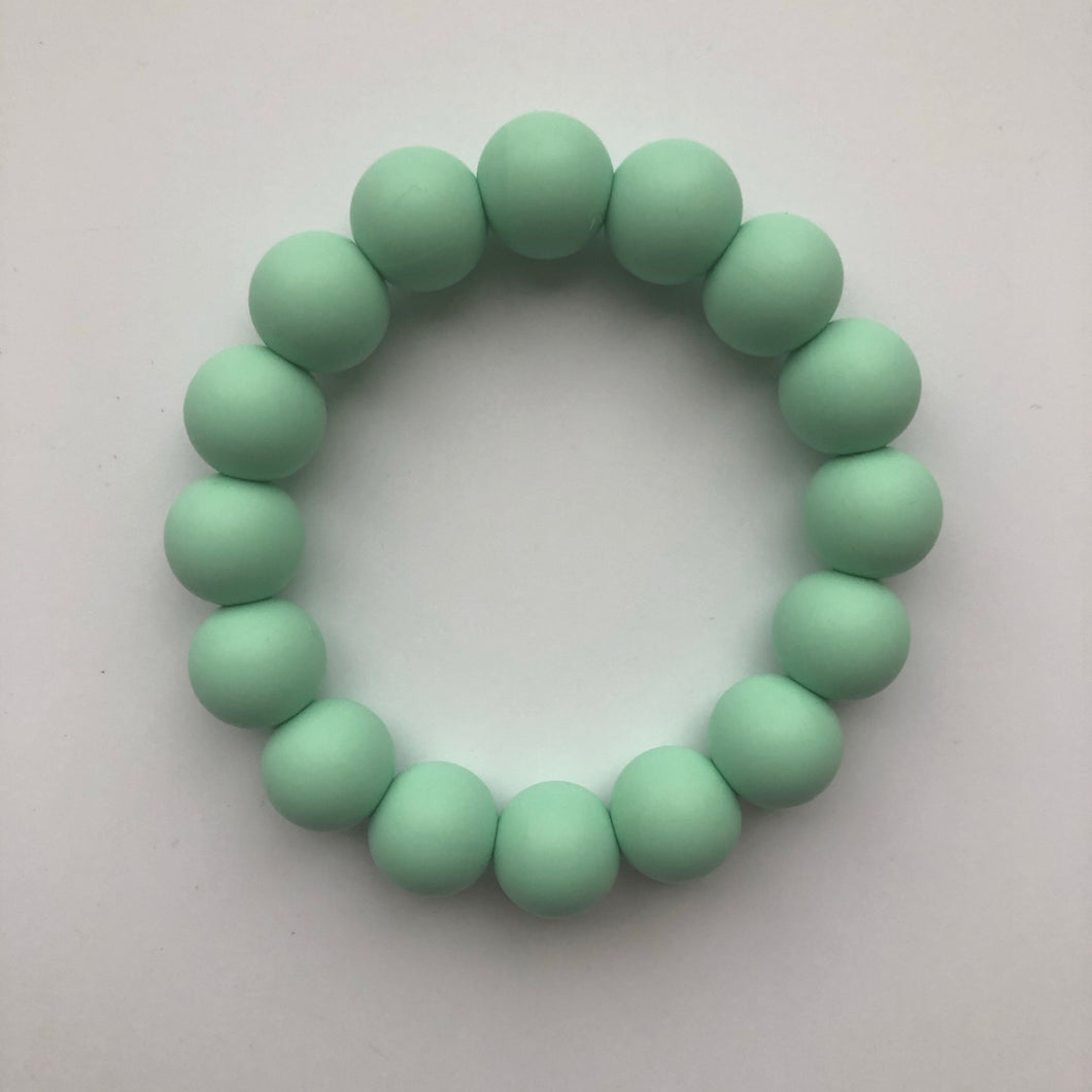 Handmade Teething Bracelet Ring - Mint-Teethers-Chewie Cat-Chewie Cat
