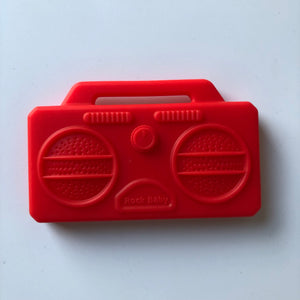 Stereo Boombox Silicone Teether - Red-Teethers-Chewie Cat-Chewie Cat