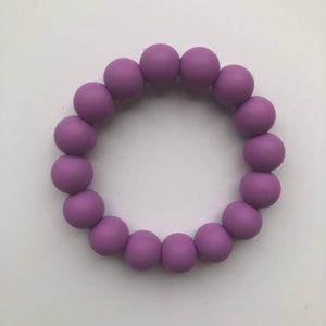Handmade Teething Bracelet Ring - Purple-Teethers-Chewie Cat-Chewie Cat