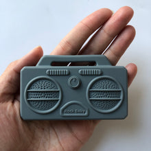 Load image into Gallery viewer, Stereo Boombox Silicone Teether - Grey-Teethers-Chewie Cat-Chewie Cat