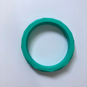 Teething Bangle - Turquoise-Chewie Cat-Chewie Cat