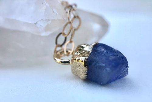 Tanzanite Drop Necklace // December