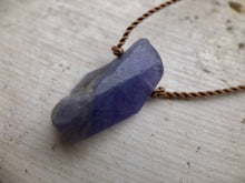 Load image into Gallery viewer, Tanzanite Cord Necklace