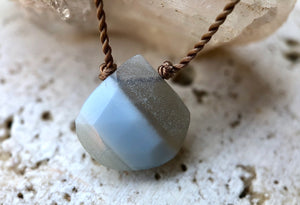 Owyhee Opal Drop Cord Necklace
