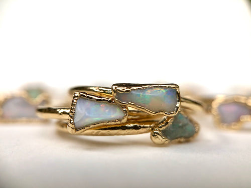 Opal Stacking Ring || October
