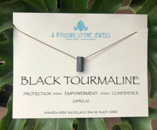 Load image into Gallery viewer, Black Tourmaline Cord Necklace