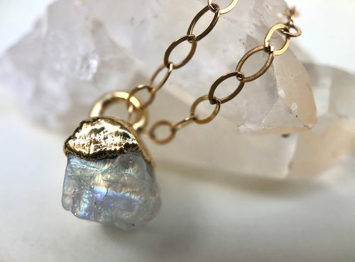 Moonstone Drop Necklace // June