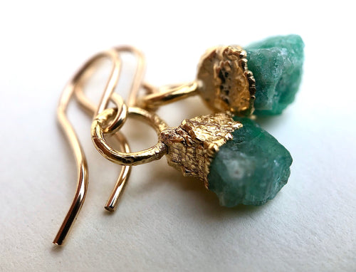 Emerald Droplet Earrings
