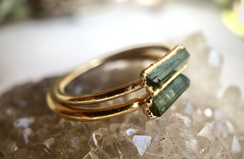 Tourmaline Stacking Ring || October