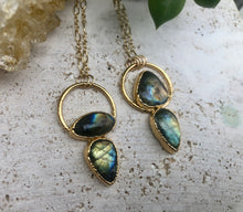 Load image into Gallery viewer, LABRADORITE DOUBLE NECKLACE