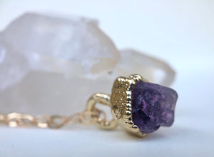 Amethyst Drop Necklace // February