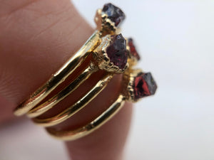 Garnet Stacking Ring || January