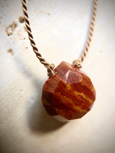 RED JASPER SILK NECKLACE