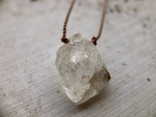 Load image into Gallery viewer, Large Herkimer Diamond Cord Necklace