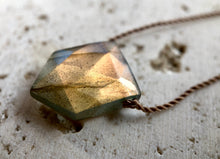 Load image into Gallery viewer, SHINE ~ Labradorite Flag Cord Necklace