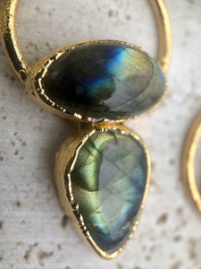 LABRADORITE DOUBLE NECKLACE II