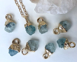 Aquamarine Drop Necklace // March