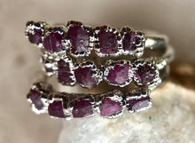 Load image into Gallery viewer, Noble Ruby Stackable Ring (Rhodium)