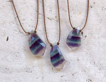 Load image into Gallery viewer, Fluorite Cord Necklace