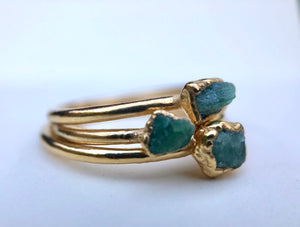 Emerald Stacking Ring || May