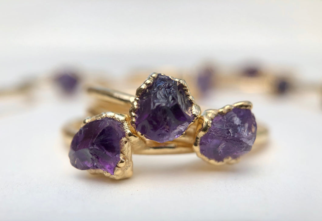 Amethyst Stacking Ring || February